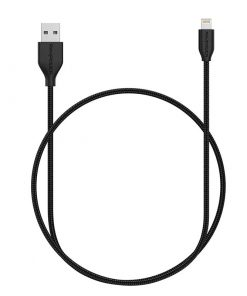 RAVPower Kevlar Braided USB Cable with Lightning Connector RP-CB019 (0.9m/3ft) - Black