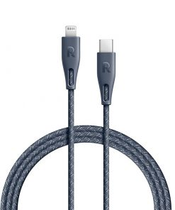 RAVPower Nylon Braided Type-C to Lightning Cable RP-CB1003GRY (0.3m/1ft) - Gray