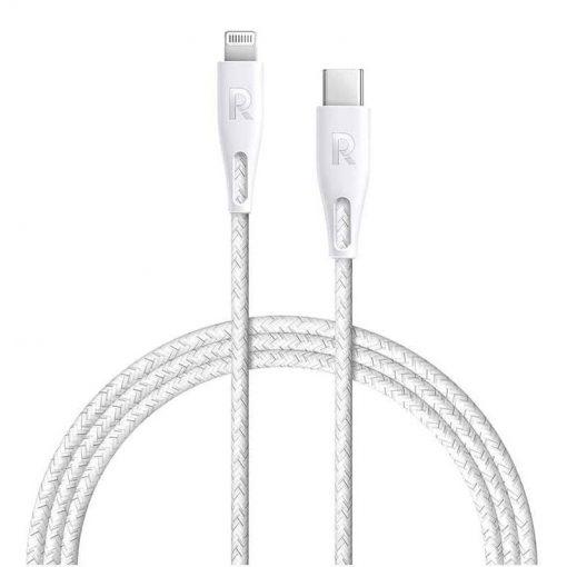 RAVPower Nylon Braided Type-C to Lightning Cable RP-CB1003WHI (0.3m/1ft) - White