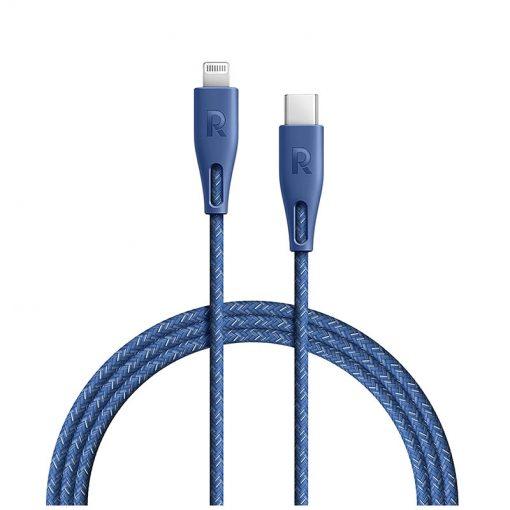 RAVPower Nylon Braided Type-C to Lightning Cable RP-CB1004BLU (1.2m/3.9ft) - Blue