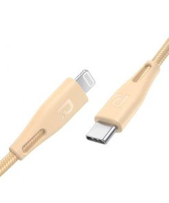 RAVPower Nylon Braided Type-C to Lightning Cable RP-CB1004GLD (1.2m/3.9ft) - Gold