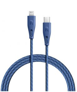 RAVPower Nylon Braided Type-C to Lightning Cable RP-CB1005BLU (2m/6.6ft) - Blue