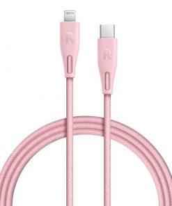 RAVPower Nylon Braided Type-C to Lightning Cable RP-CB1005PNK (2m/6.6ft) - Pink