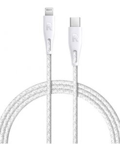 RAVPower Nylon Braided Type-C to Lightning Cable RP-CB1005WHI (2m/6.6ft) - White