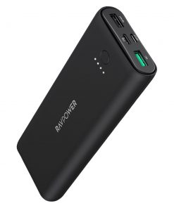 RAVPower PD Pioneer 20100mAh PD+QC 30W 3-Port Power Bank Black