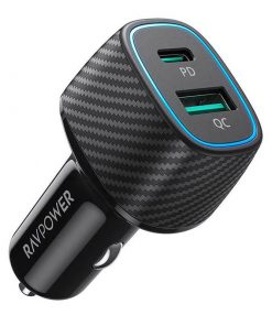 RAVPower PD Pioneer 48W 2-Port USB Car Charger RP-VC009 Black