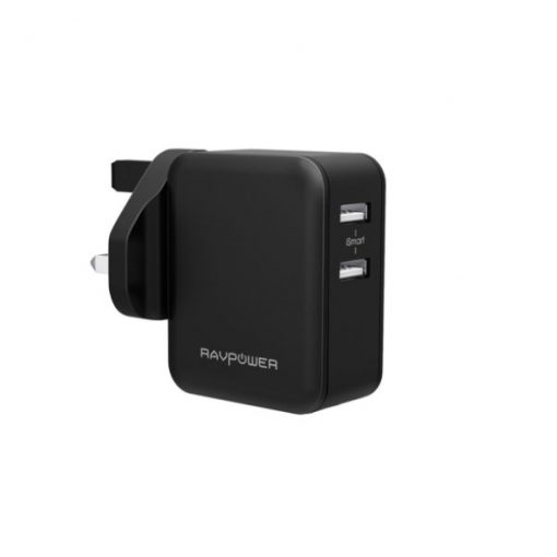 RAVPower Prime 24W 2-Port USB Wall Charger RP-PC001 Black