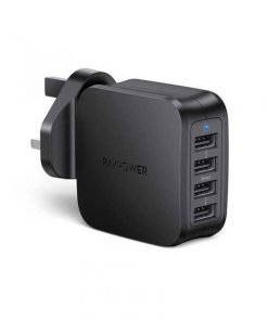 RAVPower Prime 40W 4-Port USB Wall Charger UK RP-PC101BLK Black
