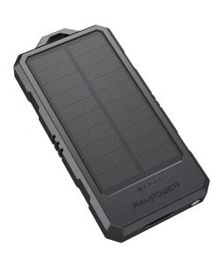 RAVPower Solar Portable Charger 15000mAh Power Bank RP-PB124 Black