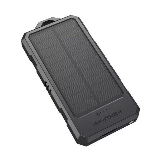 RAVPower Solar Portable Charger 15000mAh Power Bank RP-PB124 Black