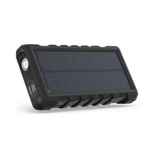 RAVPower Solar Portable Charger 25000mAh Power Bank RP-PB083 Black