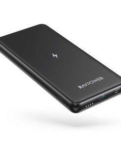 RAVPower RP-PB084 Turbo 2-Port Portable Wireless Power Bank 10000mAh 10W Black